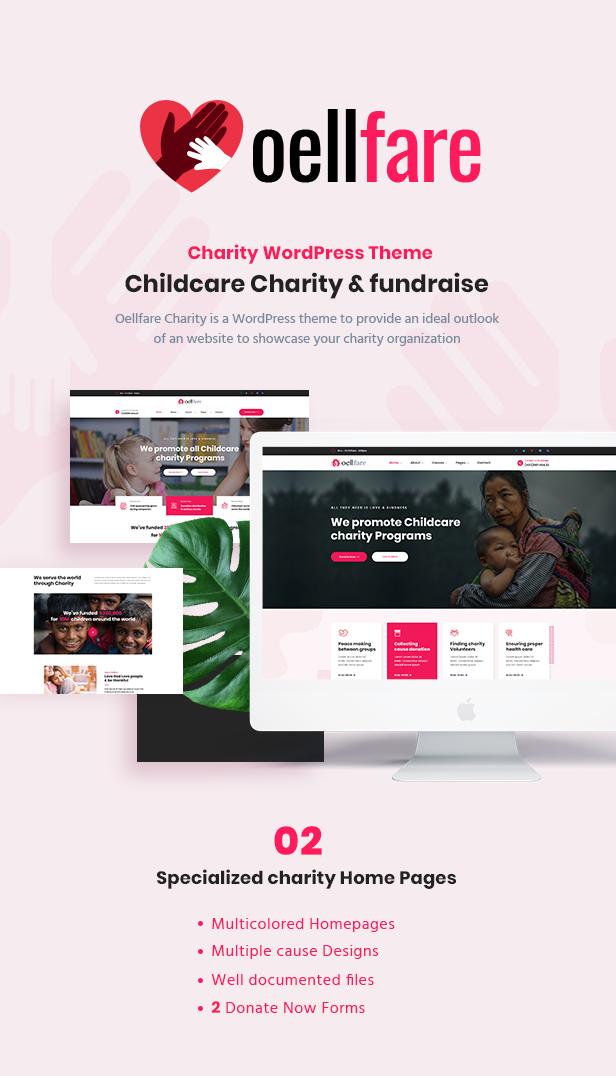 1 Oellfare - Charity WordPress Theme theme WordPress